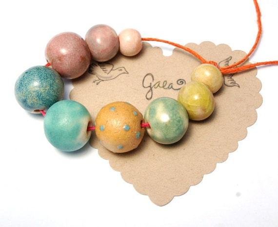 Goody Gumdrops / Candy Tone Ceramic Bead Set