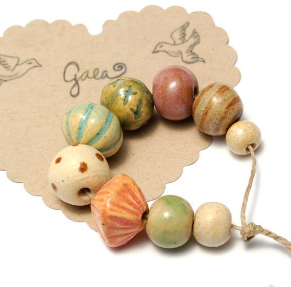 Summer Solstice / Ceramic Bead Set