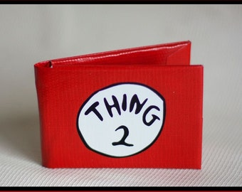 Thing 2 Duct Tape Wallet - by jDUCT