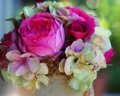 Beautiful Rose Hydrangea Silk  Flower Centerpiece