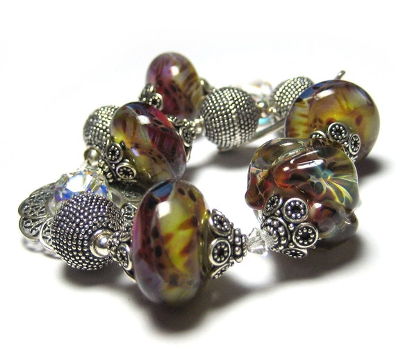 Sterling Silver Bracelet - Fantasy - Costume jewelry by Sparklingtwi on Etsy