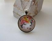 Charisse - mini print necklace pendant and chain