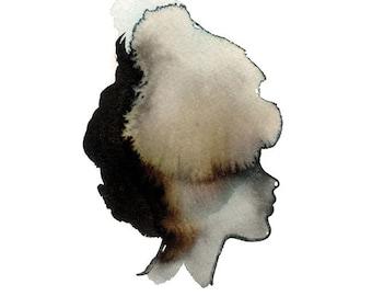 Lady Silhouette Art Print 5 x 7