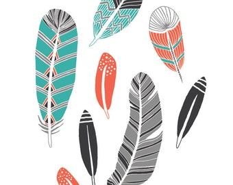 Feather Collection Art Print
