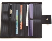 Women's Black Upcycled Seatbelt Wallet