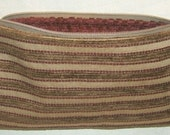 NEW REDUCED PRICE  Maroon and Brown Stripes Zippered Pouch