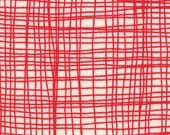 """33"""" end of bolt piece - Summersville - Weave in London Bus Red: sku 31707-12 cotton quilting fabric by Lucie Summers for Moda Fabrics"""