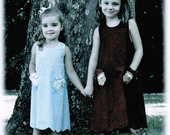 SALE - Avery reversible swing jumper or sundress sewing pattern from Pintucks and Pettiecoats,  girls sizes 2-6