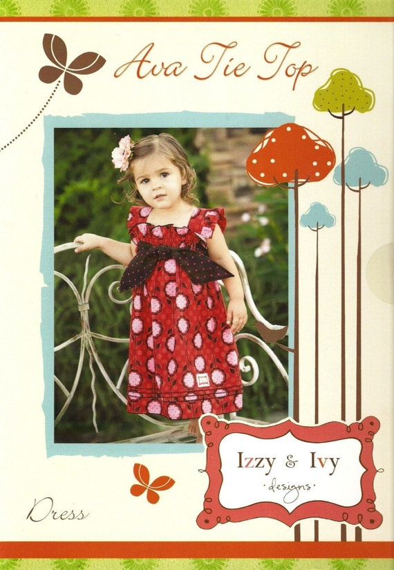 SALE - Ava Tie Top Dress sewing pattern from Izzy and Ivy Designs