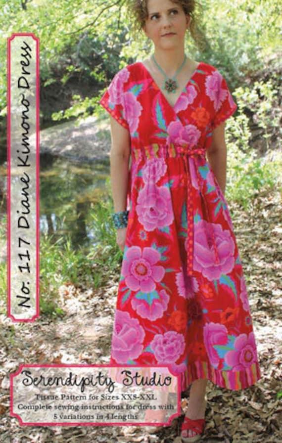 Diane Kimono Dress sewing pattern from Serendipity Studio
