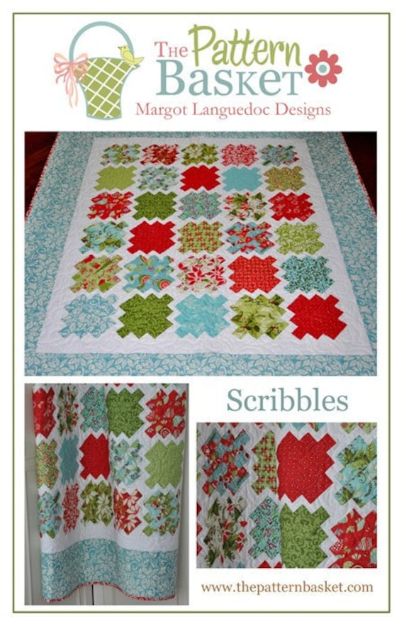 SALE - Scribbles Quilt Pattern from The Pattern Basket