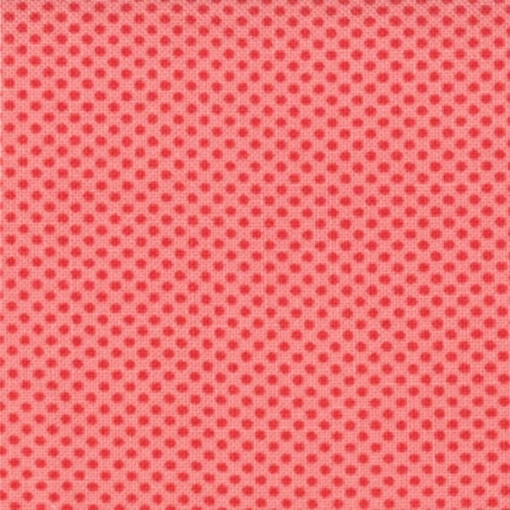 "13"" end of bolt piece - Ruby - Dot in Sherbet: sku 55031-24 cotton quilting fabric by Bonnie and Camille for Moda Fabrics"