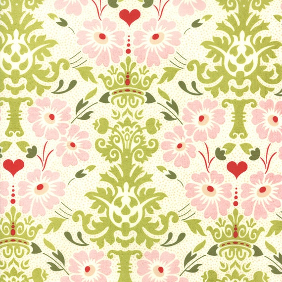"""30"""" piece/remnant - SALE - Hello Luscious - Floral Bouquet in Inviting: sku 30281-11 cotton quilting fabric by Basic Grey for Moda Fabrics"""