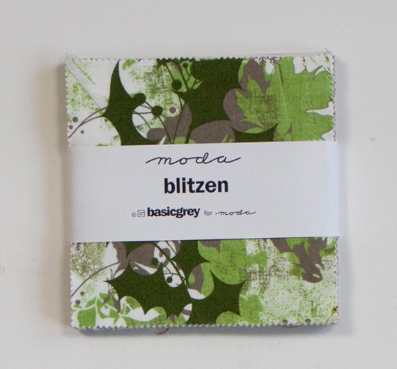 SALE - 2 packs - Blitzen Charm Pack by Basic Grey for Moda Fabrics,  84 5 inch squares