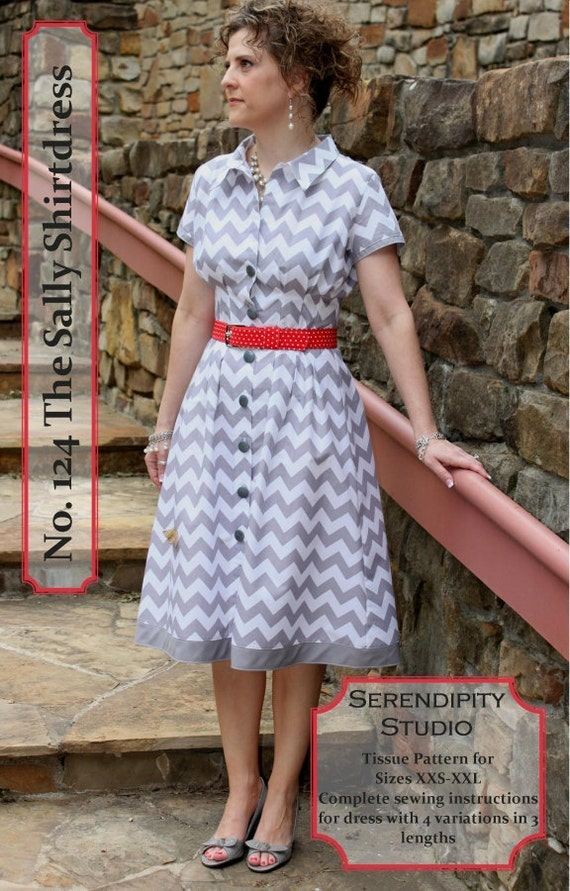 The Sally Shirtdress Sewing Pattern From Serendipity Studio