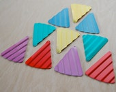 8  Retro Colorful Metal Triangle Charms