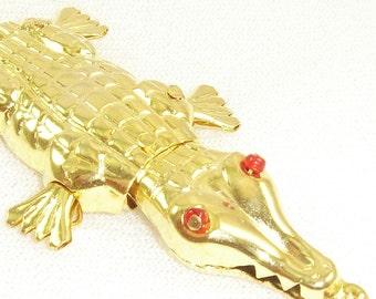 Vintage Red Eyed Alligator Pendants