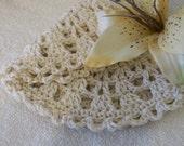 Soft Ecru Crocheted Washcloth