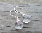 Crystal Quartz Earrings - Perfect Basic Everyday Earring