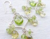 Chandelier Earrings - Lemon Topaz and Lime Peridot Mini Chandeliers