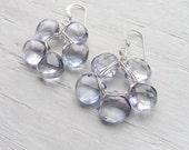 Blue Flower Earrings - Blue Quartz Briolette Earring