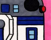 R2-D2 framed original pop art, Neil Jam style