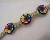 Flower Child Hippie Hemp Bracelet