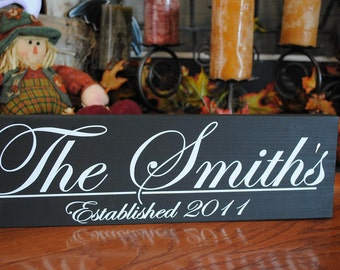 Established Family name sign, Personalized Wedding Gift, Anniversary Gift, For the Couple, Photo Wall sign