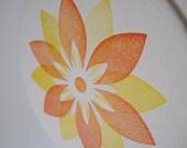 Set of 8, Flower Power, Letterpress Coasters