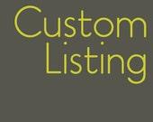 Custom listing for Stacyjoym