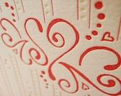 Set of 6, Love Fizz Letterpress Cards
