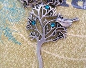 Momentary Rest- Bird in Tree Chain Necklace