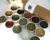 large everyday spice kit with recipes. an ideal gift for the novice cook.