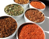 gourmet rubs kit. small gourmet BBQ blends kit for red meat and burgers.