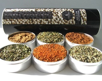 global blends spice kit -  favorite flavors from around the world - gift set for the world cook