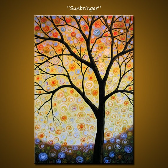 Sunbringer - 24 x 36, acrylic on gallery wrapped canvas, ready to hang, ORIGINAL and HUGE, One of a Kind - PLEASE SEE CLOSE UPS