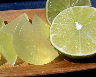 12 Lime Wedge Mini Soaps, Natural Soaps, Party Favors, Wedding Favors, Guest Soaps
