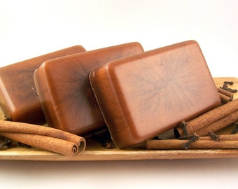 Cinnamon Clove Soap, Glycerin Soap, Handmade Bar Soap