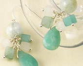 Reserved for AudreyKemp - Earrings in shades of blue-green