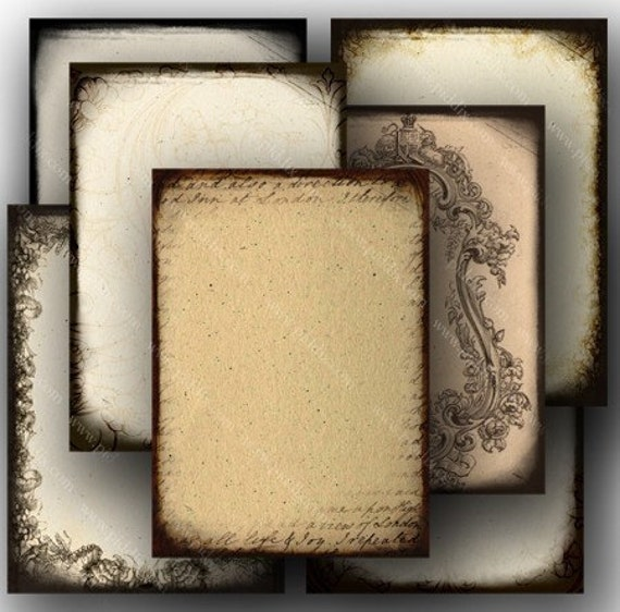 ATC Printables 2.5x3.5 inch Collage Sheet, ATC Shabby Chic Ephemera Download, Blank ACEO Collage Sheet, Grunge Digital Download - piddix 716