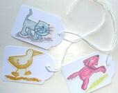 Animal Gift Tags   Set of 3