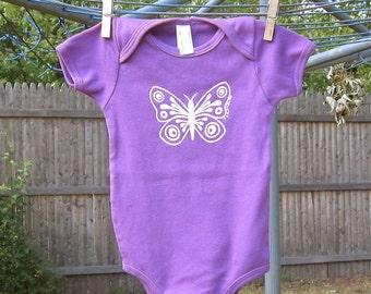 Butterfly Baby One-Piece in Purple