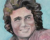 Michael Landon - 18 x 24 Print of Original Oil Painting On High Quality Gloss Poster Paper