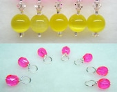 Pink Lemonade Knitting Set (Customizable Stitch Markers and Choose Your Size Droplets)