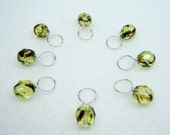 Cat's Eyes Stitch Marker Drops for Knitting (Choose Your Size - Set of 8)