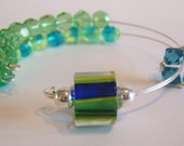 Waterlily Row Counter Bracelet for Knitting or Crochet