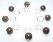 Mumsey - Healing Gemstone Stitch Marker Drops for Knitting (Choose Your Size - Set of 8)