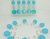 Blue Bird Knitting Set with Stitch Markers and Droplets