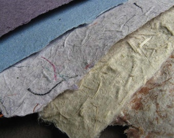 Handmade Paper, Recycled fibers 8.5 x 11 inches, Environmentally friendly upcycled materials-Recycled Handmade Paper