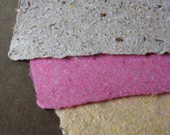 Handmade Paper- made from eco friendly recycled materials-Recycled Handmade Paper
